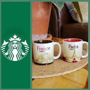 LIKE NEW Starbucks Demitasse (set of 2) 3 oz mugs